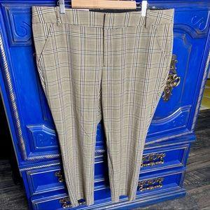 New! AVA & VIV Women's Plaid Ankle Pants Tan 18W